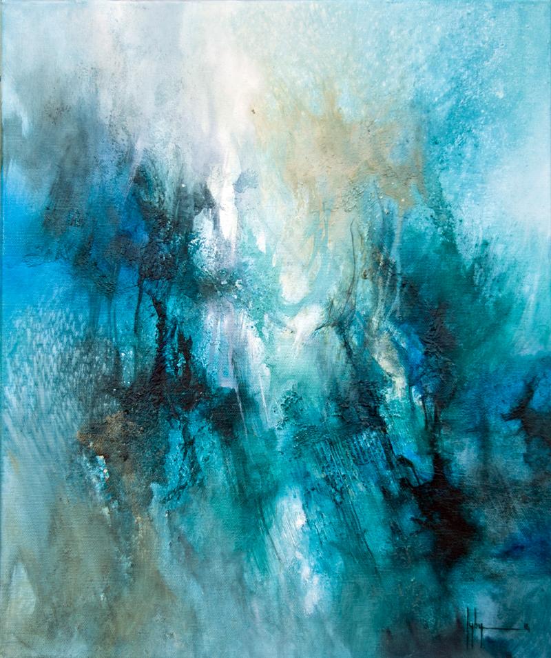 Au delà Huile et acrylique sur toile 55x43 - 2014