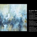 Le jour décroît Huile et acrylique sur toile 46x55 - 2014