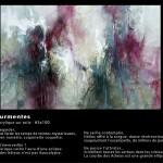 Les tourmentes Huile sur toile  65x100 - 2014  Disponible