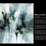 Nuit et jour 100x100 - 2014 Acrylique sr toile