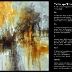 Telle qu'Elle Huile sur toile 150x120 - 2014  Disponible