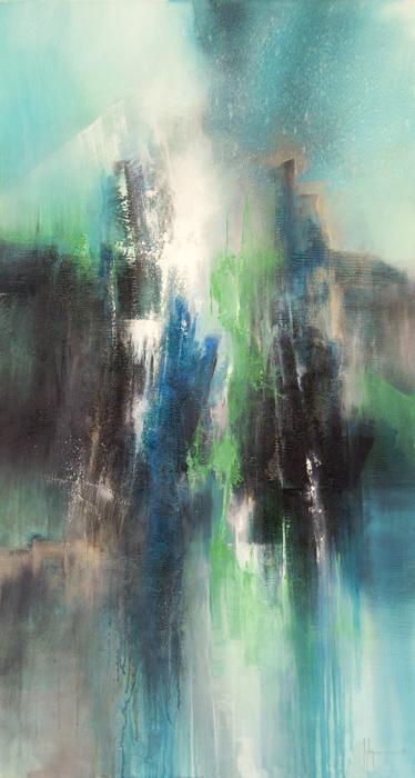 Apollon Huile et acrylique sur toile 120x60 - 2013