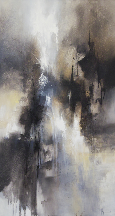 Jupiter Huile et acrylique sur toile 120x60 - 2013